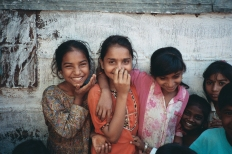 Smiling Indian Children, GV India 1994