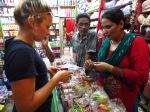 Shopping for bangles, Pokhara