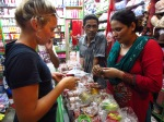 Shopping for bangles, Pokhara