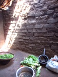 Inside the old house - cooking area