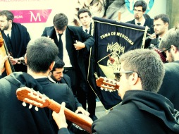 Fado Students performing in the street