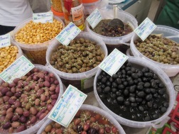 Market shopping - olives