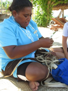 Voi Voi weaving, Paradise Cove, Fiji