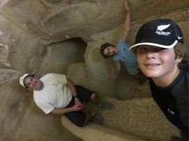 Inside a pyramid at Giza!