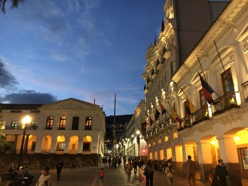 Plaza Grande at Dusk