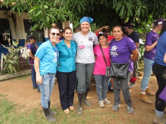 (L to R) Raquel, Habitat Paraguay, Angelica (Homeowner), Me, Delia (homeowner) and Ilda (homeowner)