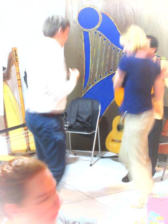 Kathy dancing the night away