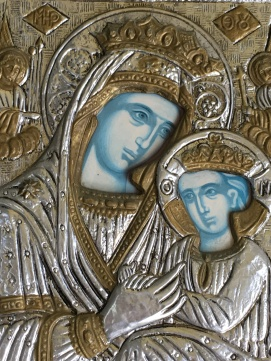Icon Mary and Jesus