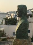 Bust of poet poet Melpo Axioti