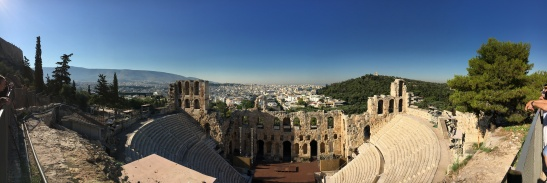 View from the Acropolis over Athens