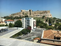 View of Acropolis from Inside Museum