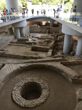 Entering Acropolis Museum