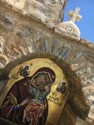 Icon outside Hozoviotissa Monastery