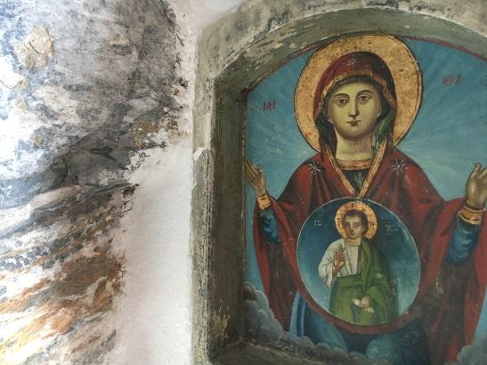 Inside Hozoviotissa Monastery