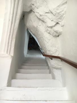 Staircase inside Hozoviotissa Monastery