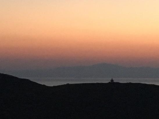Sunset sky from Tholaria