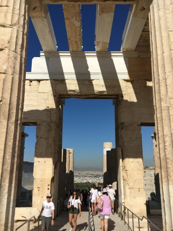 Entering the Propylaia