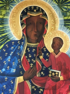 Reproduction of the Black Madonna icon of Częstochowa, Poland