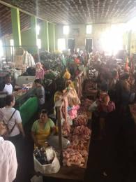 Meat section, Masaya market
