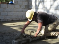 Julio works on the floor