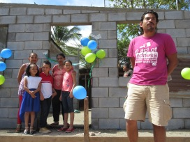 Dedication day with the family and Humberto, GV Coordinator