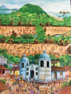 Mural illustrating Granada's history