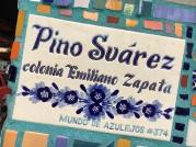 Tiled Street Sign - Lazaro Cardenas Park