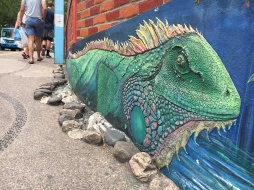 Iguana Mural on the Bridge