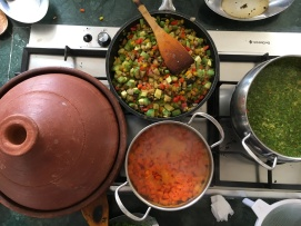 Making B'stella, Harira and Tagine