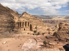 Summit view of the Monastery, Petra